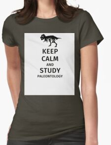 Keep calm and study paleontology Womens Fitted T-Shirt