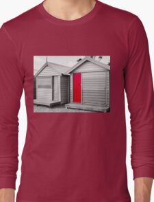 Bathing houses at Brighton Beach, Australia Long Sleeve T-Shirt