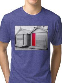 Bathing houses at Brighton Beach, Australia Tri-blend T-Shirt