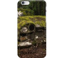 A (non) rolling car gathers some moss iPhone Case/Skin
