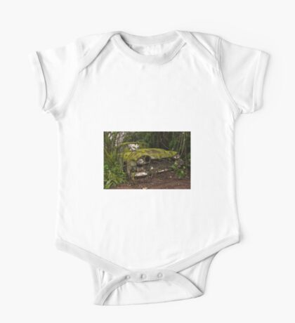 A (non) rolling car gathers some moss One Piece - Short Sleeve