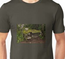 A (non) rolling car gathers some moss Unisex T-Shirt
