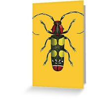 Big Beetle Bug Greeting Card