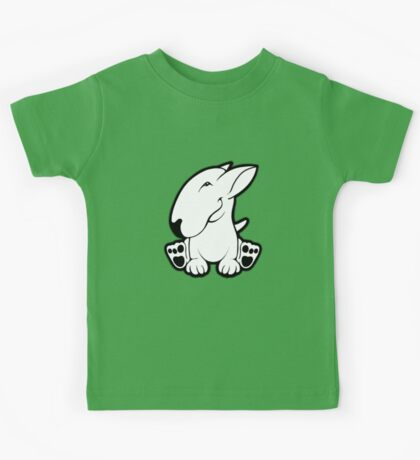 Side Sit English Bull Terrier  Kids Tee