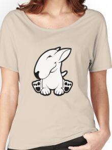 Side Sit English Bull Terrier  Women's Relaxed Fit T-Shirt