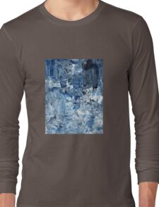 Ebb and flow across lost ice paradise Long Sleeve T-Shirt