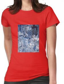 Ebb and flow across lost ice paradise Womens Fitted T-Shirt