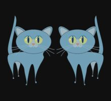 A PAIR OF PURRING CATS One Piece - Short Sleeve