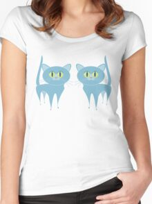 A PAIR OF PURRING CATS Women's Fitted Scoop T-Shirt