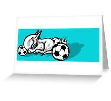 English Bull Terrier Pest Greeting Card