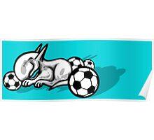English Bull Terrier Pest Poster