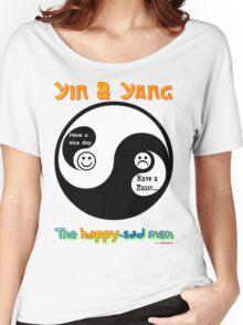 Yin & Yang - The Happy-Sad Men Women's Relaxed Fit T-Shirt