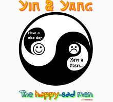 Yin & Yang - The Happy-Sad Men Unisex T-Shirt