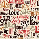 Love Typography Brown by SpiceTree