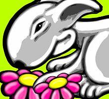 English Bull Terrier Daisy by Sookiesooker