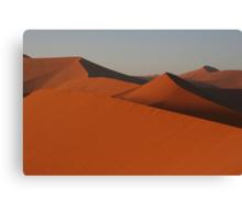 Mountain range of sand Canvas Print