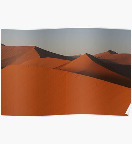 Mountain range of sand Poster