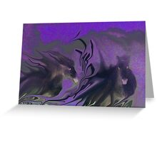 digital cave painting, running horses 2 Greeting Card