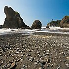 Beach at Olympic National Park by starsofglass