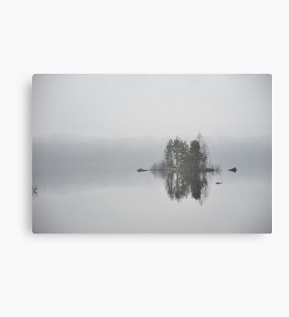 Island in mist Canvas Print