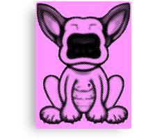 Black Dot English Bull Terrier Puppy Design Canvas Print