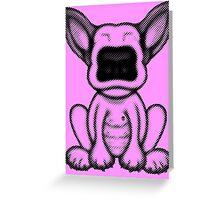 Black Dot English Bull Terrier Puppy Design Greeting Card