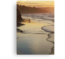 Stroll in evening light- Whitby, North Yorkshire Canvas Print