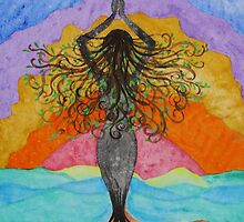 Gaia Celebrating Mother Tree by Deb Coats