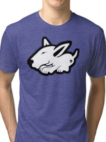 English Bull Terrier Planning Trouble Tri-blend T-Shirt