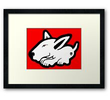 English Bull Terrier Planning Trouble Framed Print