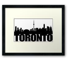 Toronto Skyline black Framed Print