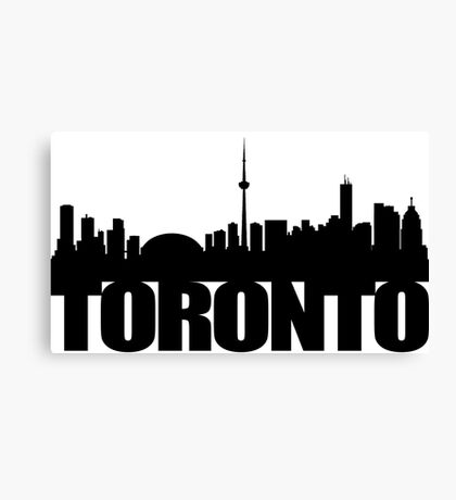 Toronto Skyline black Canvas Print