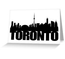 Toronto Skyline black Greeting Card