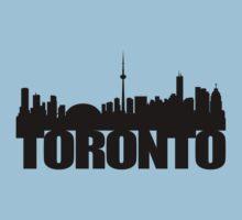 Toronto Skyline black Kids Tee