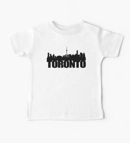 Toronto Skyline black Baby Tee