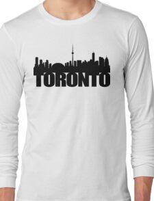 Toronto Skyline black Long Sleeve T-Shirt