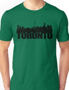 Toronto Skyline black Unisex T-Shirt