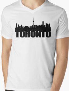 Toronto Skyline black Mens V-Neck T-Shirt