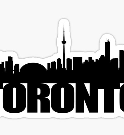 Toronto Skyline black Sticker