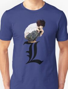L - Death Note (Black) T-Shirt