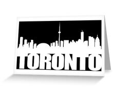 Toronto Skyline white Greeting Card