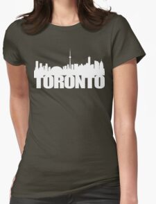 Toronto Skyline white Womens Fitted T-Shirt
