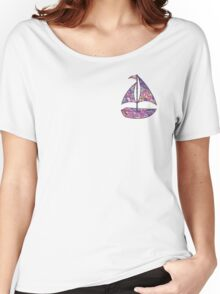 Lilly Pulitzer Inspired Sailboat - Sea and Be Seen Women's Relaxed Fit T-Shirt