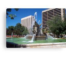 Victoria Square Fountain Canvas Print