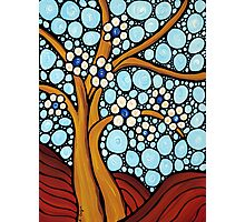 The Loving Tree - Abstract Mosaic Landscape Art Print Photographic Print