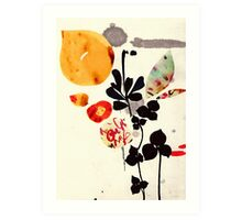 Yellow Sun Leaves Art Print