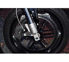 Buell Front Wheel Photographic Print