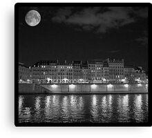 Moonlight and Île Saint-Louis Canvas Print