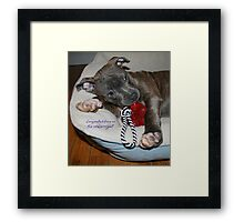 Congratulations on the new arrival! Framed Print