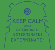 Keep Calm EXTERMINATE One Piece - Short Sleeve